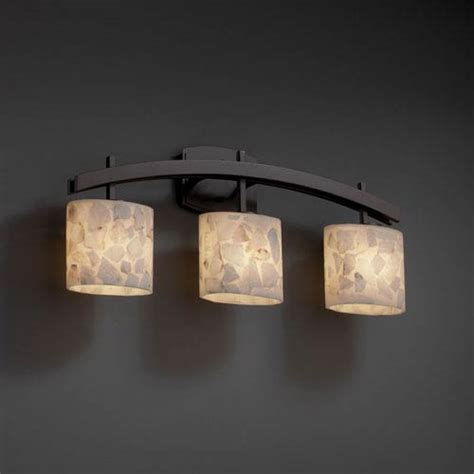 3 light bathroom fixtures justice design group alabaster rocks archway three light