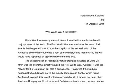 Did Gavrilo Princip Start Ww1 Essay by Was World War 1 Inevitable A Level History Marked By Teachers