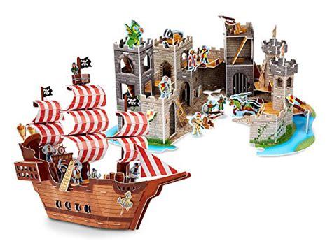 row boat kits puzzle pirates melissa doug 3 d puzzle kits set pirate ship and