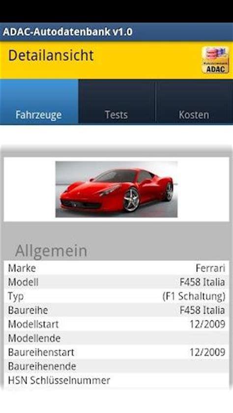 Wertermittlung Auto Versicherung by Adac Autodatenbank Kostenlose Android App F 252 R Die