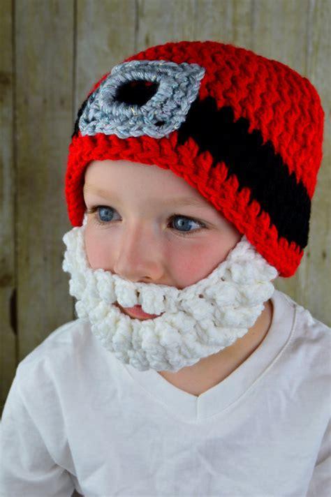 free crochet santa hat for children free shipping baby crochet hat children s beanie caps santa hat santa claus beard hat