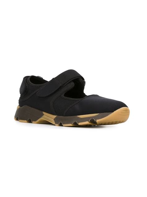 sneakers with velcro straps marni velcro sneakers in black for lyst