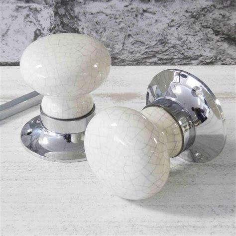 crackled ceramic mortice door knobs