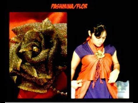 quieres hacer esto? flor y pashmina youtube