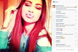 zendaya with a new hair color