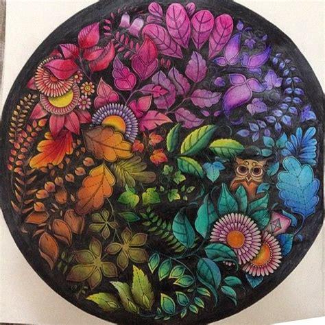secret garden coloring book dk mandala owls enchanted forest mandala de corujas floresta
