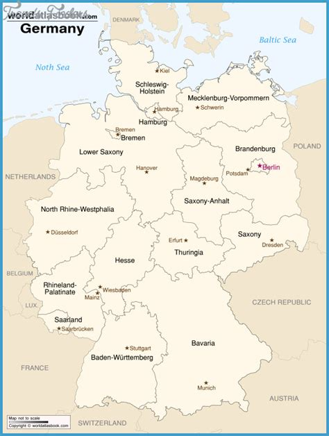 printable maps germany germany map travelsfinders com
