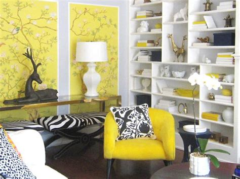 yellow black and white living room inspiration hollywood invite home glitz glamour and