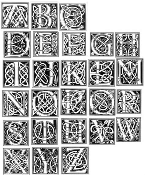 photoshop pattern letters celtic alphabet wood burning pyrography ideas