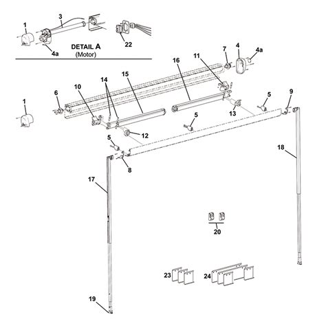 carefree awning parts diagram freedom hardware pack arm attach 1 arm