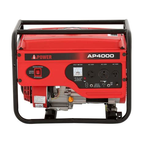 a ipower 4 000 watt gasoline powered generator ap4000