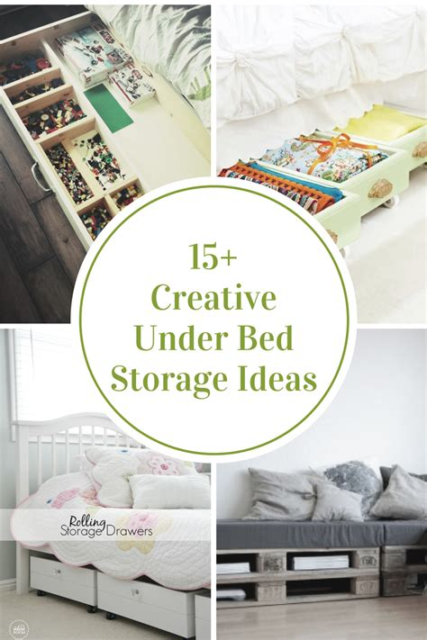 creative  bed storage ideas  idea room