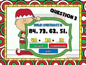 christmas pattern game number patterns christmas powerpoint game by teacher
