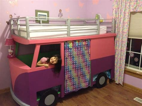bed for 4 year old kids bedroom 9years old vw bus bunk bed playhouse by