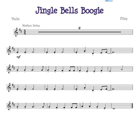Wedding Bell Piano Sheet by Jingle Bell Boogie For The Beginner Violinist Free