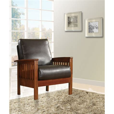 faux leather chair walmart mission oak faux leather chair brown walmart