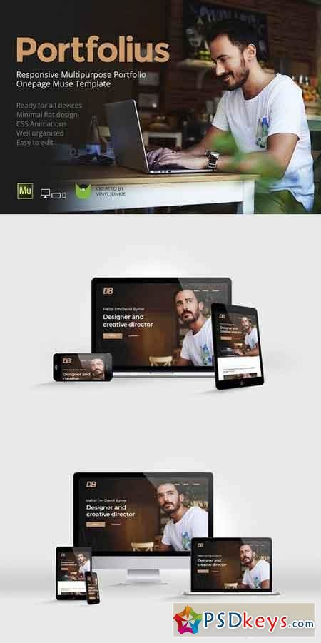 adobe muse mobile templates potfolius adobe muse template 1113452 187 free