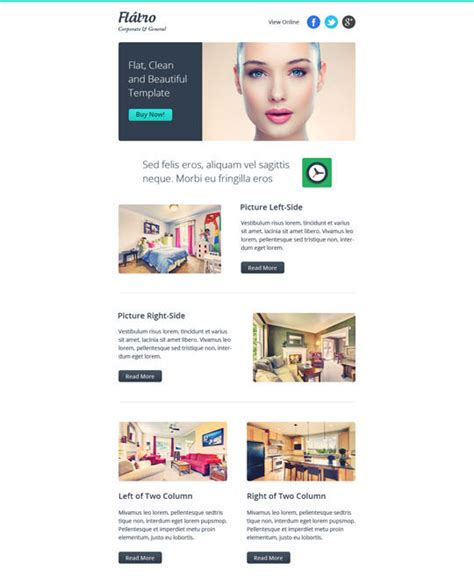 newsletter templates responsive 20 best flat style responsive email templates designbeep