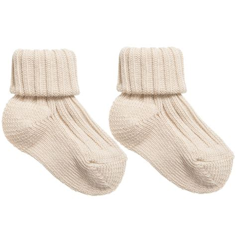 Baby Socks caramel baby child beige cotton rib baby socks