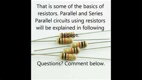 basic electronics components resistors basic electronic components part one resistors