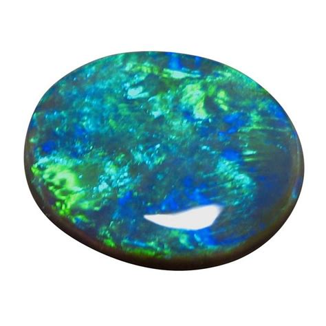 Opal Green 5 75 carat black opal blue green solid black opals