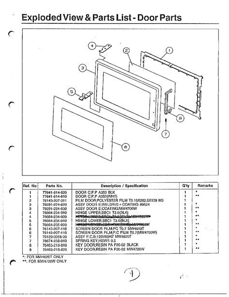 samsung microwave parts diagram samsung microwave oven exploded view parts model