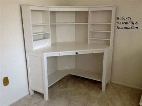 Hemnes Corner Desk Ikea Hemnes Workstation From Assembly Installation In Temecula Ca 92589