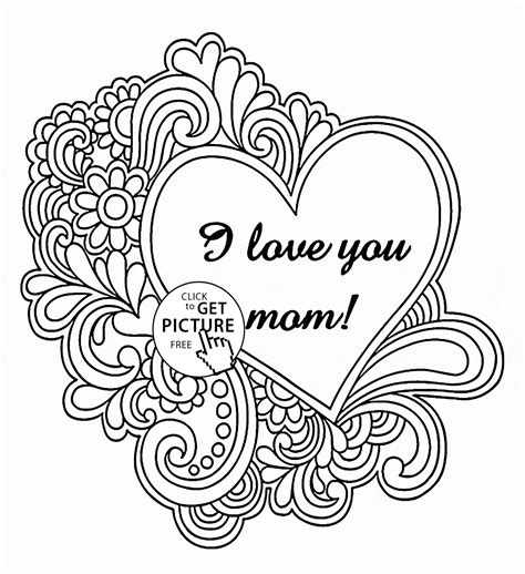 i love mom coloring pages printable printable coloring pages