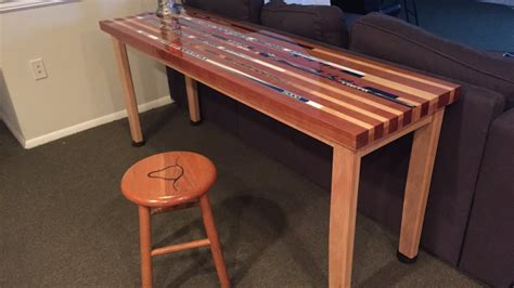 hockey stick coffee table hockey stick table