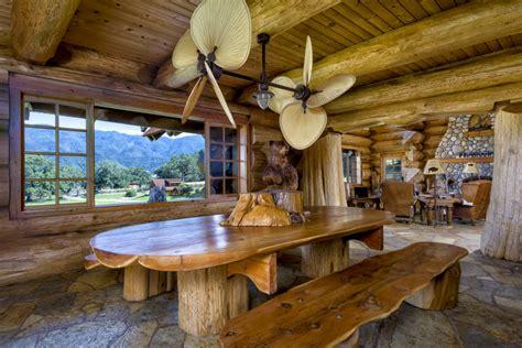 home log cabin mansion estate  highway