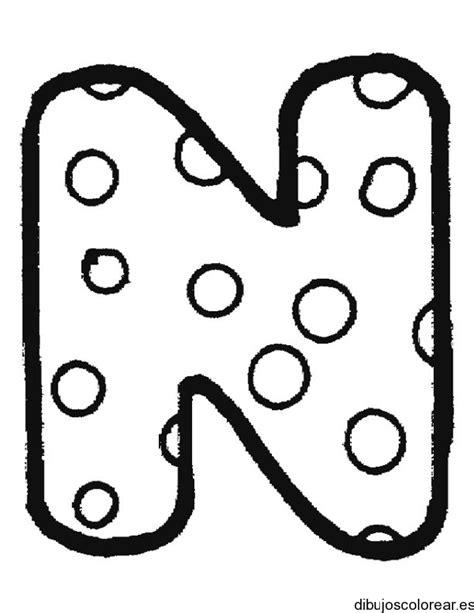 imagenes para colorear letras letra n