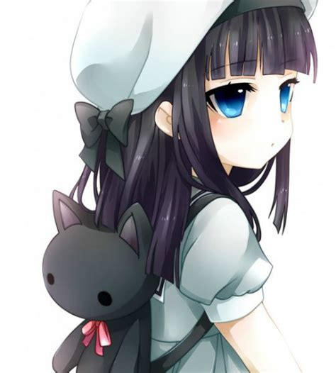 cute black hair anime girl with headphones dragon cave forum gt rp character gallery