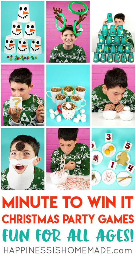 diy christmas party games for groups minute to win it for all ages happiness is