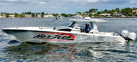 nor tech boats 450 american custom marine does demo day with 45 foot nor