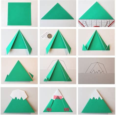 Mountain Fold In Origami - diy calendrier de l avent through the mountains