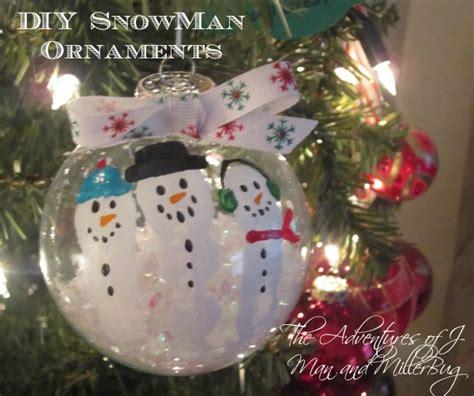Home Made Xmas Decorations diy christmas craft adorable fingerprint snowman