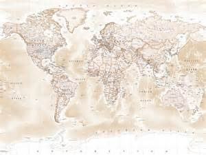sepia world map wallpaper gallery