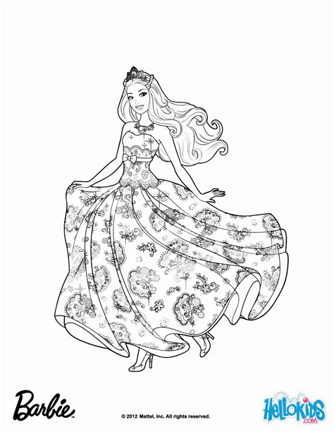 barbie the princess the popstar coloring pages