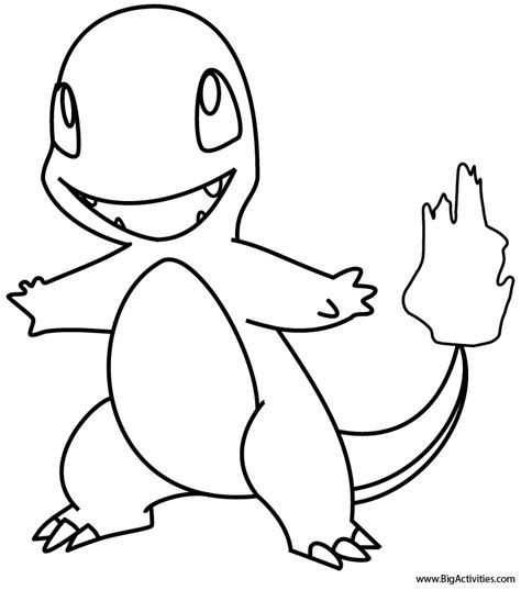 pokemon charmander coloring pages images pokemon images