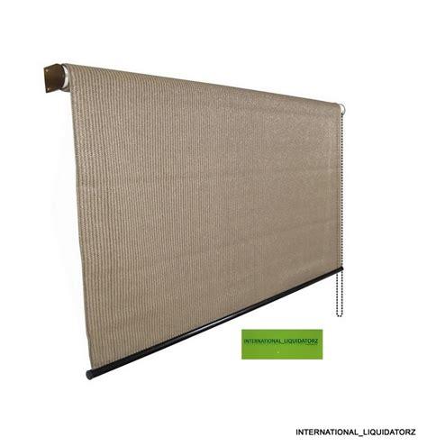 Roll Up Patio Doors Exterior 8 Ft X 6 Roll Up Solar Window Shade Patio Door Porch Garage Shade Ebay