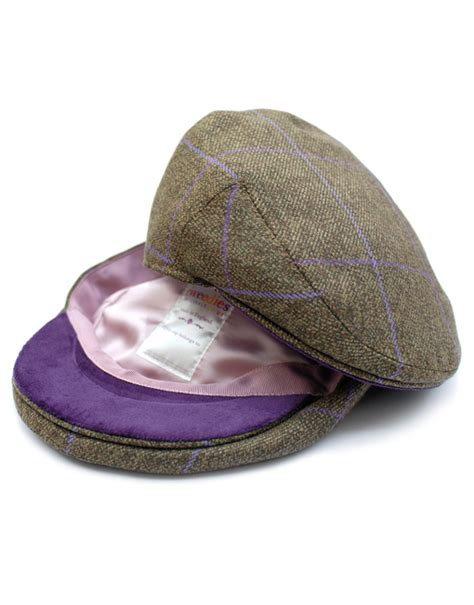 How To Make A Flat Cap Out Of Paper - tweedies langford children s tweed flat cap