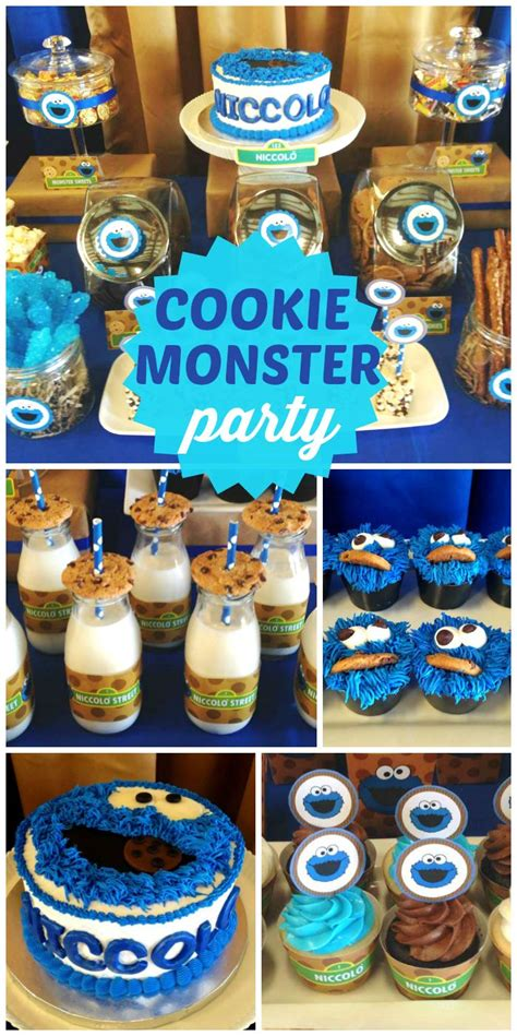 first birthday themes boy birthday quot niccolo s 1st birthday party quot cookie monster