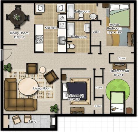 denah desain interior rumah minimalis 17 desain rumah minimalis modern 3 kamar tidur paling