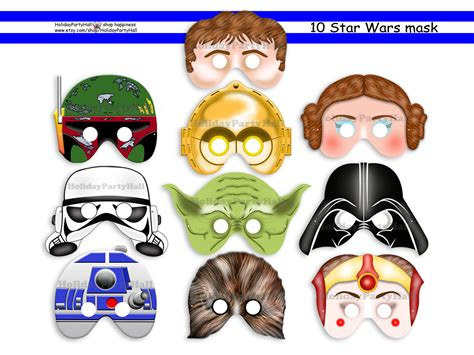 printable star wars masks unique star wars printable masksparty by holidaypartyhall