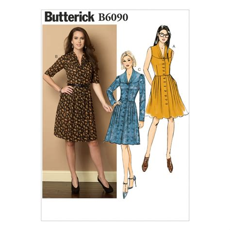 sewing pattern button up dress butterick ladies easy sewing pattern 6090 button up