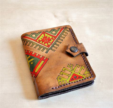 Painting Leather by Custom Sewn Leather Wallet Bifold Painted In