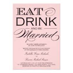 5 x 7 eat drink be married wedding invitation 5 quot x 7 - Eat Drink And Be Married Wedding Invitations