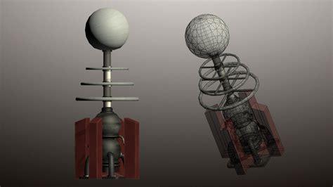 Tesla Coil Tower Tesla Coil Tower 3d Model Ready Max Obj 3ds Fbx