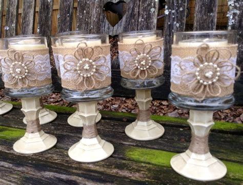 country shabby chic wedding decor best 25 burlap centerpieces ideas on country