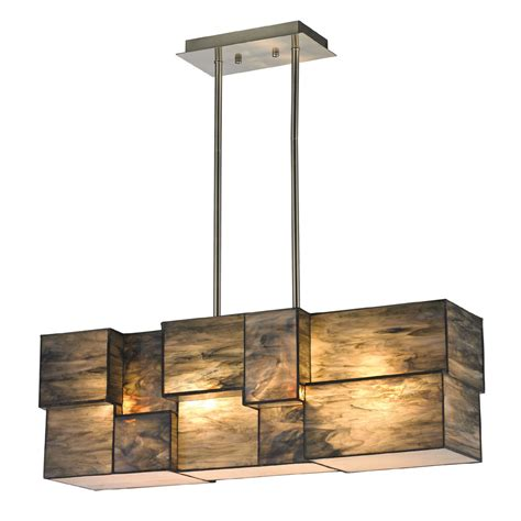 Kenroy Chandelier Elk 72073 4 Cubist Contemporary Brushed Nickel Kitchen